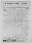 Lincoln County Leader, 05-03-1890 by Lincoln County Publishing Company