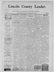 Lincoln County Leader, 05-10-1890 by Lincoln County Publishing Company