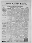 Lincoln County Leader, 05-17-1890 by Lincoln County Publishing Company