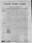Lincoln County Leader, 05-31-1890 by Lincoln County Publishing Company