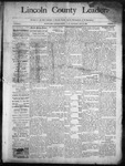 Lincoln County Leader, 01-11-1890 by Lincoln County Publishing Company