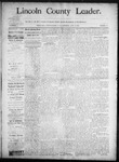 Lincoln County Leader, 06-07-1890 by Lincoln County Publishing Company