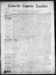 Lincoln County Leader, 06-14-1890 by Lincoln County Publishing Company