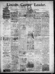 Lincoln County Leader, 06-21-1890 by Lincoln County Publishing Company