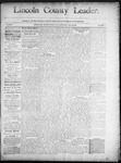 Lincoln County Leader, 07-26-1890 by Lincoln County Publishing Company