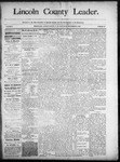 Lincoln County Leader, 09-06-1890 by Lincoln County Publishing Company