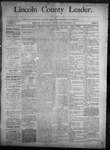 Lincoln County Leader, 09-13-1890 by Lincoln County Publishing Company