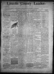 Lincoln County Leader, 09-27-1890 by Lincoln County Publishing Company