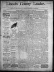 Lincoln County Leader, 10-04-1890 by Lincoln County Publishing Company
