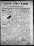Lincoln County Leader, 10-18-1890 by Lincoln County Publishing Company