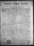 Lincoln County Leader, 10-25-1890 by Lincoln County Publishing Company