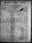 Lincoln County Leader, 11-08-1890 by Lincoln County Publishing Company