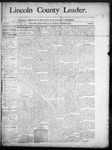 Lincoln County Leader, 11-22-1890 by Lincoln County Publishing Company