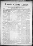 Lincoln County Leader, 05-09-1890 by Lincoln County Publishing Company