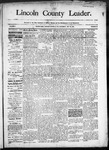 Lincoln County Leader, 05-16-1890 by Lincoln County Publishing Company