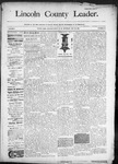 Lincoln County Leader, 05-23-1890 by Lincoln County Publishing Company