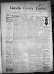 Lincoln County Leader, 05-30-1890 by Lincoln County Publishing Company