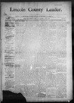 Lincoln County Leader, 06-06-1890 by Lincoln County Publishing Company