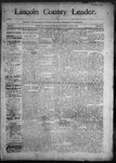 Lincoln County Leader, 06-27-1890 by Lincoln County Publishing Company