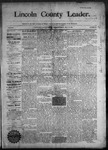 Lincoln County Leader, 07-18-1890 by Lincoln County Publishing Company