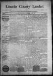 Lincoln County Leader, 08-01-1890 by Lincoln County Publishing Company