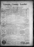 Lincoln County Leader, 08-29-1890 by Lincoln County Publishing Company