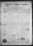Lincoln County Leader, 09-05-1890 by Lincoln County Publishing Company