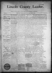 Lincoln County Leader, 09-12-1890 by Lincoln County Publishing Company