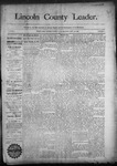 Lincoln County Leader, 09-19-1890 by Lincoln County Publishing Company