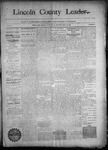 Lincoln County Leader, 09-26-1890 by Lincoln County Publishing Company