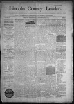 Lincoln County Leader, 10-03-1890 by Lincoln County Publishing Company