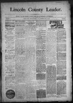Lincoln County Leader, 10-31-1890 by Lincoln County Publishing Company