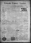 Lincoln County Leader, 11-14-1890 by Lincoln County Publishing Company