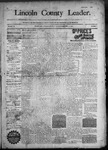 Lincoln County Leader, 11-21-1890 by Lincoln County Publishing Company