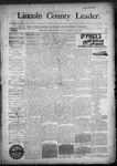 Lincoln County Leader, 11-28-1890 by Lincoln County Publishing Company