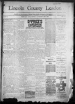 Lincoln County Leader, 12-31-1890 by Lincoln County Publishing Company