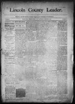 Lincoln County Leader, 01-31-1891 by Lincoln County Publishing Company