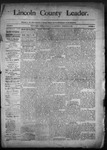 Lincoln County Leader, 02-21-1891 by Lincoln County Publishing Company