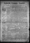Lincoln County Leader, 03-07-1891 by Lincoln County Publishing Company