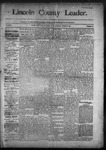 Lincoln County Leader, 03-21-1891 by Lincoln County Publishing Company