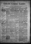 Lincoln County Leader, 03-28-1891 by Lincoln County Publishing Company