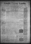 Lincoln County Leader, 04-04-1891 by Lincoln County Publishing Company