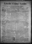 Lincoln County Leader, 04-25-1891 by Lincoln County Publishing Company