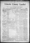 Lincoln County Leader, 05-09-1891 by Lincoln County Publishing Company