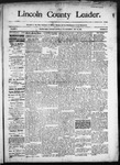 Lincoln County Leader, 05-16-1891 by Lincoln County Publishing Company
