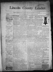 Lincoln County Leader, 05-30-1891 by Lincoln County Publishing Company