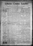 Lincoln County Leader, 06-13-1891 by Lincoln County Publishing Company