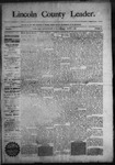 Lincoln County Leader, 08-01-1891 by Lincoln County Publishing Company