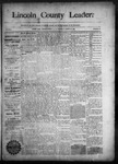 Lincoln County Leader, 08-29-1891 by Lincoln County Publishing Company