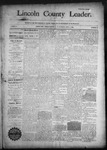 Lincoln County Leader, 09-05-1891 by Lincoln County Publishing Company